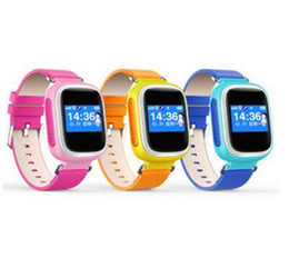 Wholesale Gps Tracker Lcd - Q60 LCD Full Screen GPS LBS SOS Kids Children AntimLost SmartWatch monitor Tracker Locator Smart Band Watch for IOS