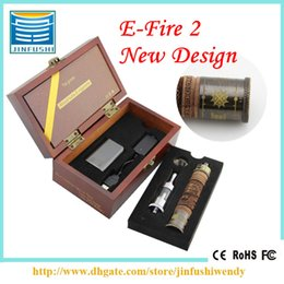 Wholesale X Fire E Cig - E-fire Wooden e cig kits mod Variable Voltage X fire Vaporizer pen efire 650mAh Battery Protank 2 atomizer e fire Gift Box Kit