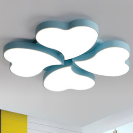 Wholesale Heart Ceiling Light - New design led ceiling lights modern clover heart shape nordic elegant creative ceiling lightings children bedroom living room study room