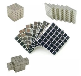 Wholesale Bucky Cubes - 4mm 216pcs Adult Fidget cube silver magic magnetic bucky cubes square bucky ball magnets neocube cubes table decompression toys