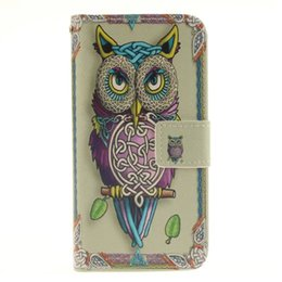 Wholesale Lion Wallets - Cartoon Wallet Leather Case Lady OWL Tiger Lion Flower Stand Pouch ID Card TPU For Samsung Galaxy S7 EDGE A310 A510 A710 2016 A3 A5 A7 Skin