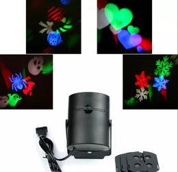 Wholesale 4w Led Strobe - 4W AC85-260V RGB Decoration moving sparkling Landscape Laser Projector Wall Lamp led star effect stage lighting LLFA