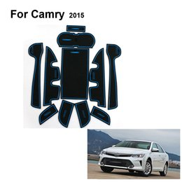 Wholesale Car Gate Stickers - Car styling Anti slip mat sticker gate slot pad door carpets Interior decoration for Toyota for Camry 2015