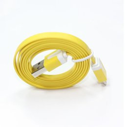 Wholesale Noodle Cables - 1M Micro V8 Noodle Flat Data USB Charging Cords Charger Cable Line for Android Phone Retail