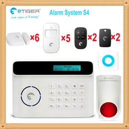 Wholesale Auto Dialer Wireless Home Security - Free Shipping! New Wireless 50 defense zones 433mhz PIR Home Security Burglar Siren Alarm System Auto Dialing Dialer Easy DIY