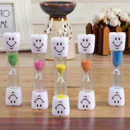 Wholesale Timer House - 10*3cm Creative Safety Smile Expression 3 Minutes Sand Glass Children Novelty Toys Timer Clocker Christmas Gifts House Decor