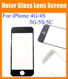 Wholesale Original Touch Iphone 4s - For iPhone 4G 4S 5G 5S 5C Front Outer Glass Lens Touch Screen Cover Touch Screen digitizer replacement repair part high Original copy SNP006