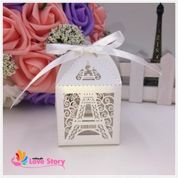 Wholesale Eiffel Tower Candy - Wholesale-2015 new Eiffel Tower wedding favor box,candy box,party decoration,gift box,macarons boxes