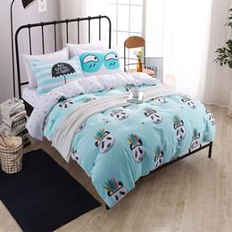 Wholesale Bedsheets Queen Size - Wholesale- kids adult cartoon Indian Panda bedding set cotton 4pcs bedclothes bed linen queen twin size Quilt duvet cover set bedsheets