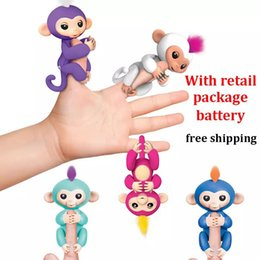 Wholesale Electronic Robot Toys For Wholesale - 2018 Fingerlings Monkey Interactive Fingerlings Baby Monkey Electronic Fingerling On Finger Monkeys Toys For Kids Robot Dolls Free Shipping