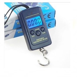 Wholesale Luggage Scale Wholesale - 40kg 10g Digital Lage hanging Scale 88Lb 1410oz LCD Display fishing weight Handy scales with retail box