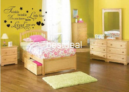 Wholesale Factory Vinyl - 2016 New Design Shipping Via Express-Twinkle Twinkle Little Star Wall decals   Art Home Sticker Vinyl Decal Factory ZY8064