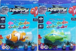 Wholesale Free Educational Music - Novelty Robo Fish and Shark Water Activated Magical Music Turbot Swimming Sharks Christmas Magic Toys Easter Gifts + Free the battery