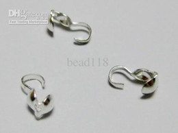 Wholesale Iron Beads Jewelry - Hot Sales ! 500 Pcs Silver Plated Bead Tips End Crimps 4mm DIY Jewelry
