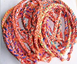 Wholesale Titanium Sports Necklace Colors - New Baseball Sports Titanium 3 Rope Braided Sport GT Necklace many colors