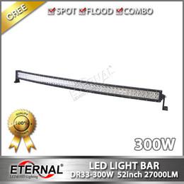 Wholesale Off Road Roof Light Bar - 300W 52in radius led light bar high power off road Jeep ATV UTV 4x4 racing roof light with super brightness