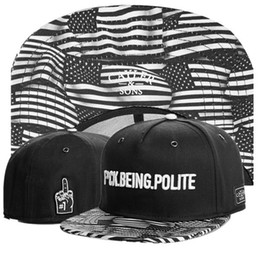 Wholesale Cheap Usa Flags - Cheap Sports Hats F*CK BEING POLITE CAYLER&SONS black usa flag Casual Outdoor Headwears Hot Selling Summer Snap Back Flat Snapback Caps TY