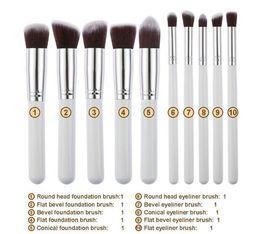 grünes make-up Rabatt 10 stücke Make-Up Pinsel 10 stücke Professionelle Kosmetik Pinsel Kit Nylon Haar Holzgriff Lidschatten Foundation Tools