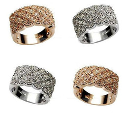 Wholesale Cocktail Diamond Ring - Engagement Rings Vivid Ring Unique Shaped White Gold Plated Paved Cocktail Rings for Womens Fashion jewellery CZ Full Diamond Rings