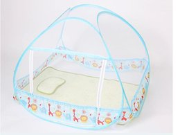 Wholesale Cheap Bedding For Kids - Kid Mosquito Net For Bed ,Cute Blue and Yellow Color,Cheap Price,Toddler Bed Crib Canopy Netting,Classical Kawaii Pattern Design