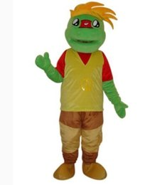 Wholesale Prince Mascot Costumes - Frog prince cartoon adult size mascot costume free shipping