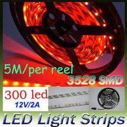 Wholesale Garden Strip Lights - 14LM White LED Strip Light 60led m non Waterproof SMD 3528 Flexible led strip 10M 300LED Home Garden