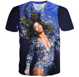 Wholesale Tshirt Spandex For Men - FG1509 2015 Summer style Sexy Beyonce t shirt for woman men 3d t shirt harajuku punk tshirt fashion graphic tee shirt Drop Shipping