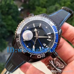 Wholesale Quality Machinery - 2017 New Style Quality Planet Ocean 600M GMT Deep Black And Red Automatic Machinery Mens Watch Sport Wrist Watches