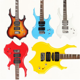 guitarra de marca rosewood Rebajas Venta directa de la fábrica de guitarra de la guitarra eléctrica IRIN Flame. La guitarra más explosiva