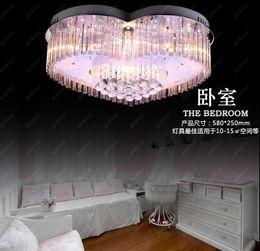 Wholesale heart ceiling light - Modern fashion led ceiling living room lights crystal lamp bedroom lamp study light heart light