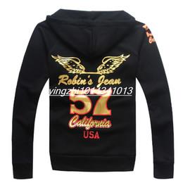 Wholesale Casual Sleeved Black For Men - New Arrive Fashion Brand designer robin hoodies for men Casual Sportswear Man Hoody Zipper Long-sleeved Sweatshirt Men Slim Fit Men Hoodie