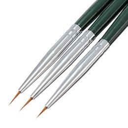 Wholesale Tips For Liner Pen - Wholesale-3Pcs Set Kolinsky Acrylic Nail Art Salon Brush For Painting Drawing Dotting Pens Color Manicure Tips Liner Nail DIY Decorations