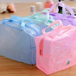 Wholesale New Transparent Bag - New Women Cosmetic Bag Organizer Transparent Makeup Case Waterproof Travel Beauty Case Storage Bags Free Shipping T170 Kevinstyle
