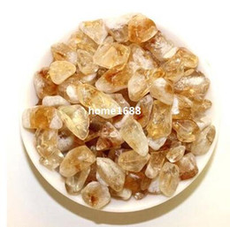 crystal craft stone Promo Codes - Natural Citrine Crystal Tumbled Stone Healing Polished Semi-Precious Crystal Gravel Arts and Crafts Beauty Free Shipping