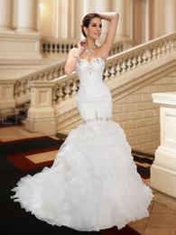 Wholesale Short Wedding Dress Long Tail - NWD2 2017 fashionable of bride beading mermaid wedding dress fish tail train plus size custom made bridal gown dresses vestido de noiva