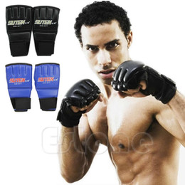 mitts gym Promo Codes - Protective Gear Cool Mma Muay Thai Training Gym Punching Bag Sparring Half Mitts Boxing Gloves Fitness Supplies