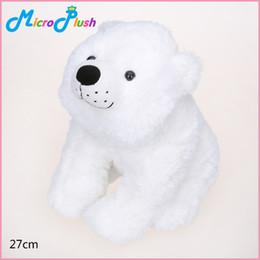 Wholesale Polar Stuff - 27cm White Polar Bear Stuffed Plush Animal Toy ON THE NIGHT YOU WERE BORN Soft Birthday Gift Christmas