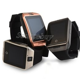 Wholesale Cheap Camera Phones - New Q18 Cheap Smart Watch with Touch Screen Camera SIM TF Card Bluetooth NFC Wireless Connect Smartwatch for Android IOS Phone Free shipping