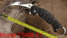 Couteau pliant poche pliante en Ligne-Livraison gratuite Nouveau TwoSun Couteaux Miroir 420J2 Crochet Lame Karambit Chasse En Plein Air Chasse Pliante Griffe De Poche G-10 Poignée Couteau TSMB
