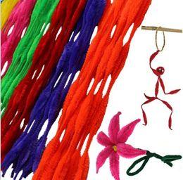 Wholesale Flex Year - 70pcs Children's Kids Educational Toys Twist-Flex Rods Plush stick DIY Materials Handmade Shilly-stick