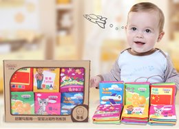 Wholesale Soft Cloth Books For Infants - Beiens 72 pages Soft Cloth Boys Girls Books Rustle Sound Infant Educational Stroller Rattle Toys For Newborn Baby 0-12 month