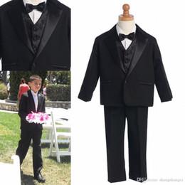2015 Yeni Koleksiyon Boys Resmi Occassion Giyim Siyah 3 Parça Bir Düğme Smokin Yakışıklı Beyefendi Yüksek Kalite Suits Gerekir nereden