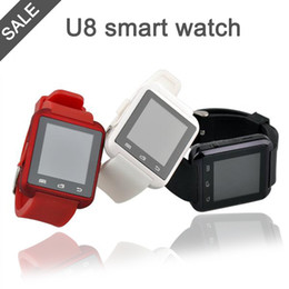 Wholesale Sale Phone Watches - New Waterproof U8 Smart watches u8 smartwatch for android phones for men women for sale with Bluetooth Wrist watch