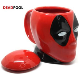 Wholesale Quality Coffee Cups - DEADPOOL Mug 3D Coffee And Drink Cup High Temperature Manufacture Quality Ceramic Mug Gifts CCA8194 24pcs