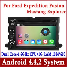 Wholesale Dvd For Ford Fusion - Android 4.4 Car DVD Player GPS Navigation for Ford Explorer Expedition Fusion Mustang with Radio BT TV USB MP3 3G WIFI Head Unit Audio Video