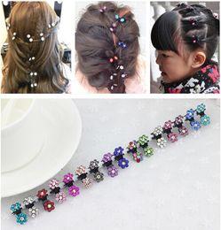 Wholesale Hair Elastic Bracelet - 40pcs lot elastic band bracelet hair accessoires baby girl headband clips gum weave baffle braided bow bandana ornaments