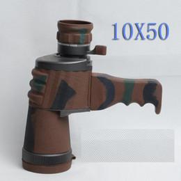 Wholesale Camo Scope - Wholesale-waterproof handheld monocular 10X soptting scope Zoom Binoculars 143M 1000M + Handle adjustable camo telescope