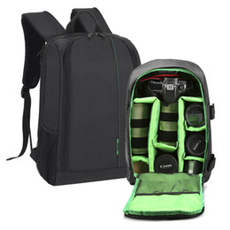 Wholesale material shoulder bags - New Polyester Material Outdoor Waterproof Multifunctional DSLR Camera Backpack With Big Laptop Pocket and Tripod Hanging Belt.