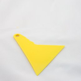 Wholesale Vinyl Application Tools - Free shipping 10*13cm Vinyl application tool Triangular yellow Squeegee Car Vinyl Squeegee For Vinyl Wrapping MX-14 whole sale