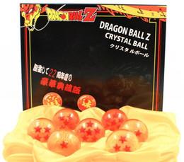 Wholesale Dragonball Z Dragon Box - Wholesale 7 Crystal Dragon Balls Z Toys 3.5cm Dia New In Box DragonBall Dragon Ball Z Balls